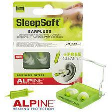 Alpine sleepsoft 2016-Tappi per le orecchie per dormire & russare, detergente per GRATUITA GRATIS UK PP