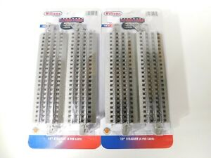 Brand-New-Bachmann-O-Gauge-E-Z-Track-10-034-Straight-Pieces-00280-TOTES-C-TOT1