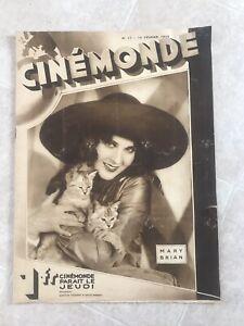 *RARE* 1929 Cinemonde Mary Brian Gloria Swanson Kera-Brodin Olga Baclanova