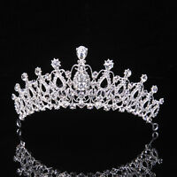Wedding Bridal Bridesmaid Prom Party Crystal Rhinestone Tiara Crown Headpiece