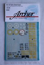 Archer 1/35 M10 Tank Destroyer Markings w/Interior Placards (AFV Club) AR35103