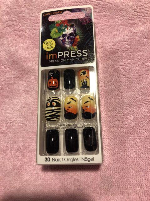 Kiss Impress Press On Manicure Nails Devilish Halloween ...