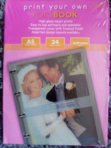 Imprima su propia imagen digital A5 fotobook Libro De Fotos Boda Cumpleaños Regalo De Eventos