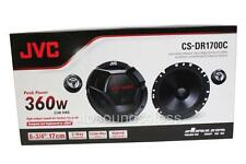 "JVC CS-DR1700C 360 Watts 6.75"" 2-Way Car Component Speakers 6-3/4"" New"
