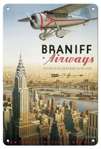 New York The B Line by Erickson Vintage Travel Poster Metal Tin Sign