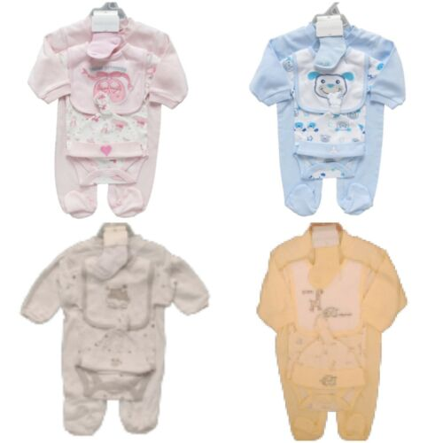 5 Piece Baby Layette Clothes//Clothing Starter Set Mesh Gift Bag Baby Shower