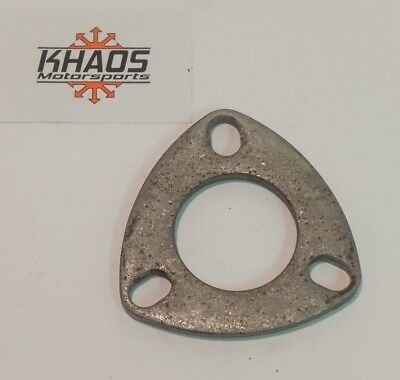 2 Universal Mild Steel Flange Exhaust Pipe 2 bolt oval Cat Back Header Khaos Motorsports