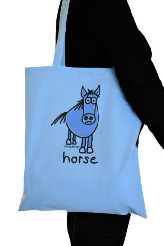 WOMENS /'HORSE/' fitted t.shirt in Sky Blue Sz 6-16 NEW