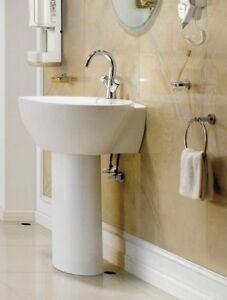 Bathroom Pedestal Sink Single Wall Mount Pedestal Sink Modern Sink Varazze
