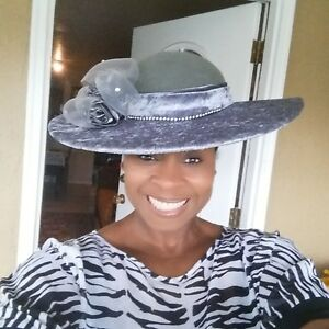 Distinguished-Wide-Brim-Gray-Winter-hat-Kentucky-Derby-Church-Hat-Dress-Hat