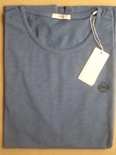 BRAX T Shirt Herren Rundhals kurzarm stahlblau  NEU UVP ab 39,95