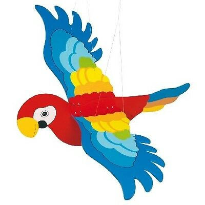 Big Flying Parrot With Flapping Wings Wooden Hanging Nursery Cot Mobile 2089