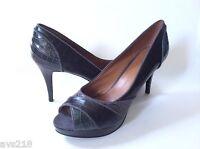 New inBox Nine West Pumps Women Shoes Heels Black Gray Multi Croco 5.5M Coconuto