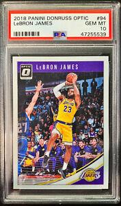 2018-Donruss-Optic-94-LeBron-James-Lakers-PSA-10-GEM-MINT-1st-Year-Lakers