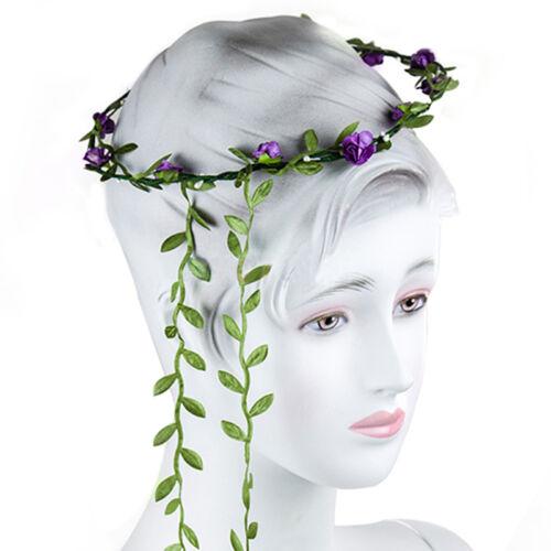 Bohemian Flower Crown Wedding Garland Forehead Hair Head Band Beach Wreath Vv~