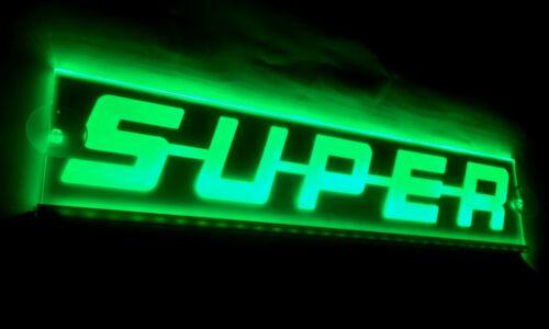 Vert 24V LED Intérieur Cabine Léger Super Plaque Laser Fluo Signe 500mm Scania