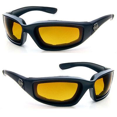 Mens Choppers Sport Driving Motorcycle Foam Padded Sunglasses Matte Orange C51