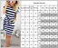 Women-Stripe-Short-Sleeve-Pocket-Bodycon-Midi-Dress-Summer-Casual-Slim-Dresses thumbnail 3