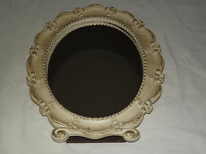 VINTAGE-OLD-MADE-IN-USA-SYROCO-WOOD-OVAL-TABLE-MIRROR