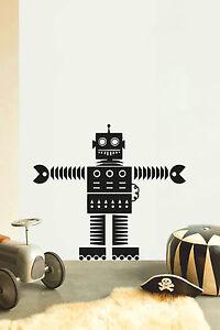 ROBOT-NO12-per-bambini-Camera-da-letto-Nursery-Adesivo-vinile-parete-arte