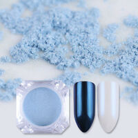 Pearl Mirror Mermaid Powder Dust Nail Art Pigment Chrome Glitter Manicure DIY
