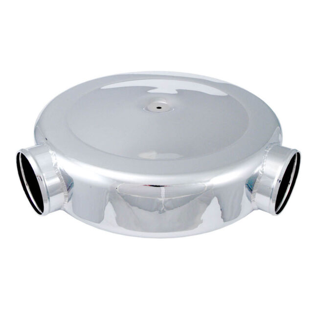 "Spectre 98699 Low Profile Polished Airbox Air Cleaner 16"" Diam., Dual 4"" Inlets"