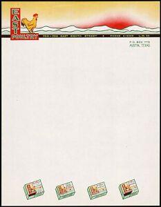 Vintage letterhead GASSONS POULTRY FARMS Leghorns farm pic Versailles Ohio nrmt+