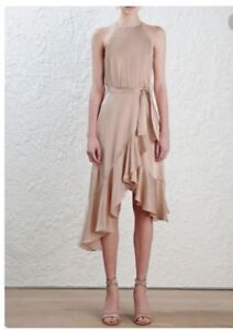 Zimmermann-Flounce-Picnic-Dress-Peach-Halter-Asymmetric-Cocktail-500-RRP