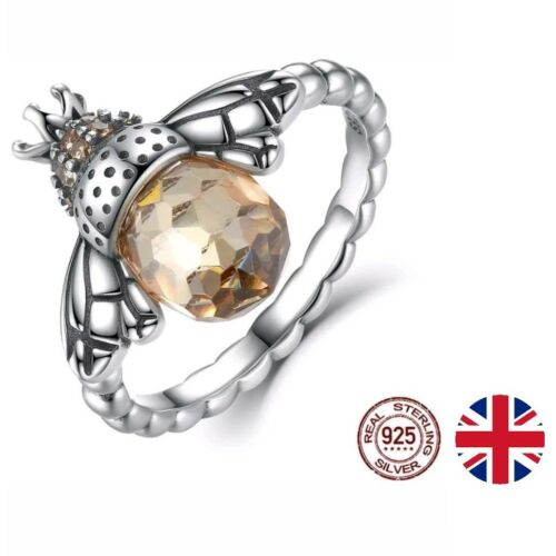*UK* Womens Queen Bee Ring REAL 925 Sterling Silver Ladies Size UK O//P /& size 7