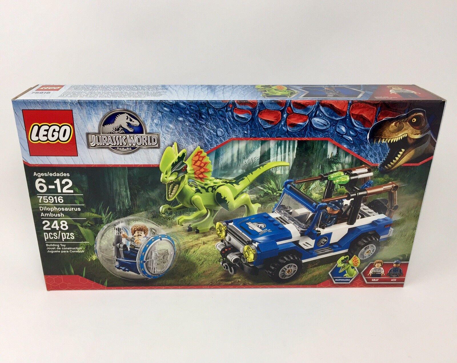 LEGO Jurassic World Dilophosaurus Ambush (75916) Brand New Factory Sealed