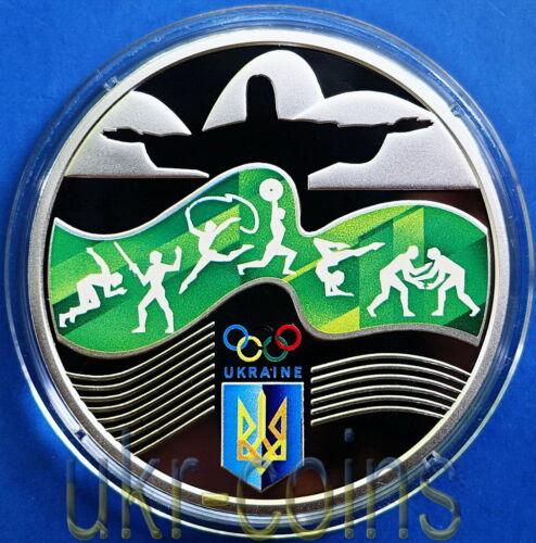 2016 Ukraine Summer Olympics Rio Brazil 1 Oz Silver 925 Coin Sport Proof 10 UAH