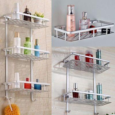 1/2/3 Layers Shower Caddy Shelf Bathroom Wall Corner Rack Storage Organizer Hang