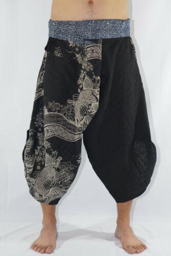 Comfy Pants Shop Unisex Samurai Pants Trousers Hilltribe Fabric Onfront Pocket