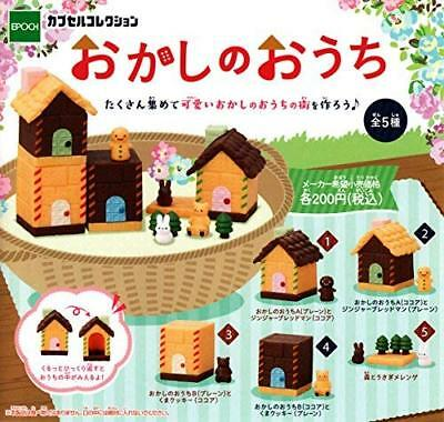 Epoch Sweets Home Figure 5 Set Full Mascot Gachapon Mini Capsule Toys Japan Cute