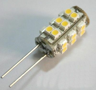 4x G4 25 SMD 3528 LED Warm White Marine Light Bulb Lamp 12 Volt