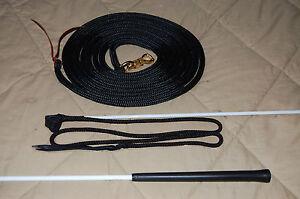 Longe-corde-avec-Parelli-Snap-amp-Handy-Carrot-Stick-For-Natural-Horse-Training
