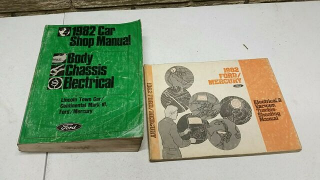 1982 Ford Mercury Service Repair Shop Manual Set   Wiring