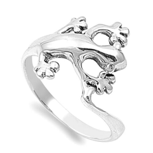 USA Seller Lizard Ring Sterling Silver 925 Best Price Plain Jewelry Selectable