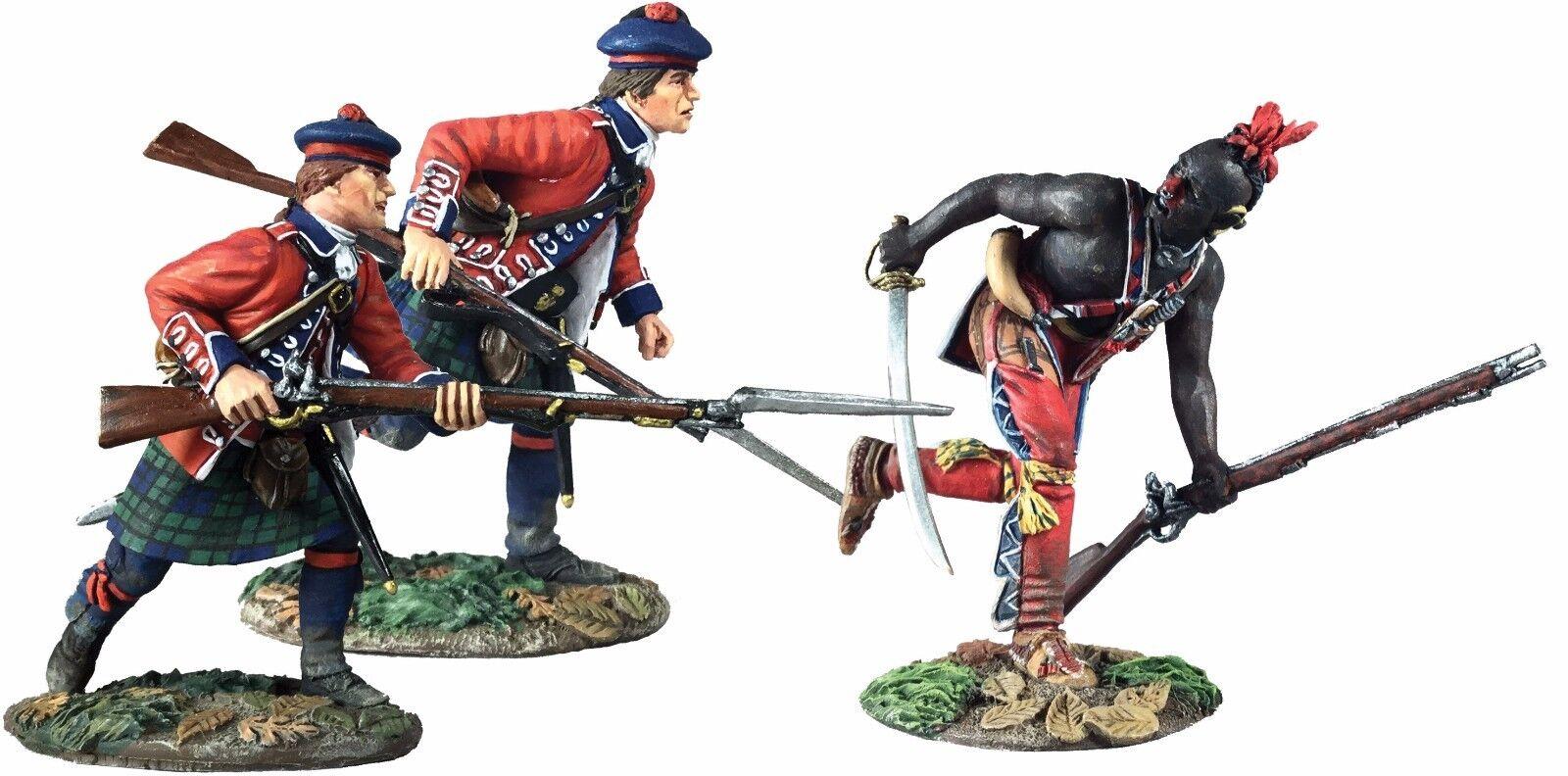 W Britain 16039 Art of War, Battle of Bushy Run No.1 - 3 Pc Set/Limited Edition