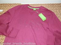 Hugo Boss Mens Crew Tiepink Purple Cardigan Sweater Sweatshirt Jumper Large