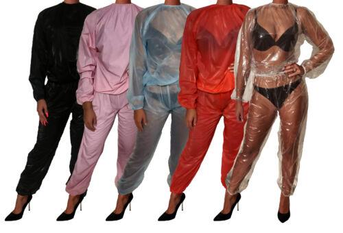 Super soft pvc pyjama pyjama windelhose schwitzanzug sauna costume gummihose
