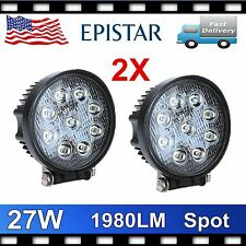 2X 27W 4.6inch Spot LED Work Light Offroad Fog Driving DRL SUV ATV Truck 4WD UTE