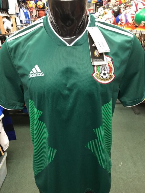 new product e0f8a b2612 Authentic adidas Mexico 2018 World Cup Green Home Men's Soccer Jersey  Bq4701 L