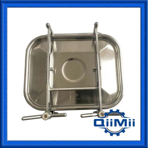 Sanitary Stainless Rectangular Manhole Cover Tank Door Square Manway SS304