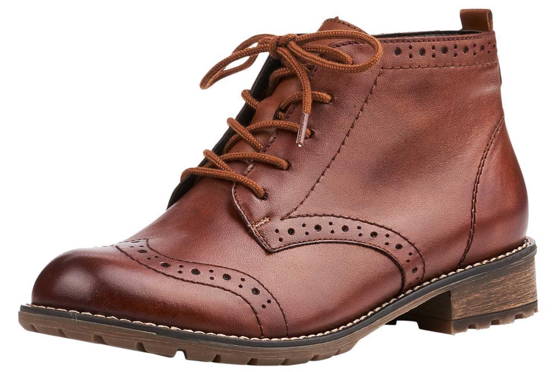 Remonte botines en talla extragrande marrón r3322-22 grandes zapatos señora