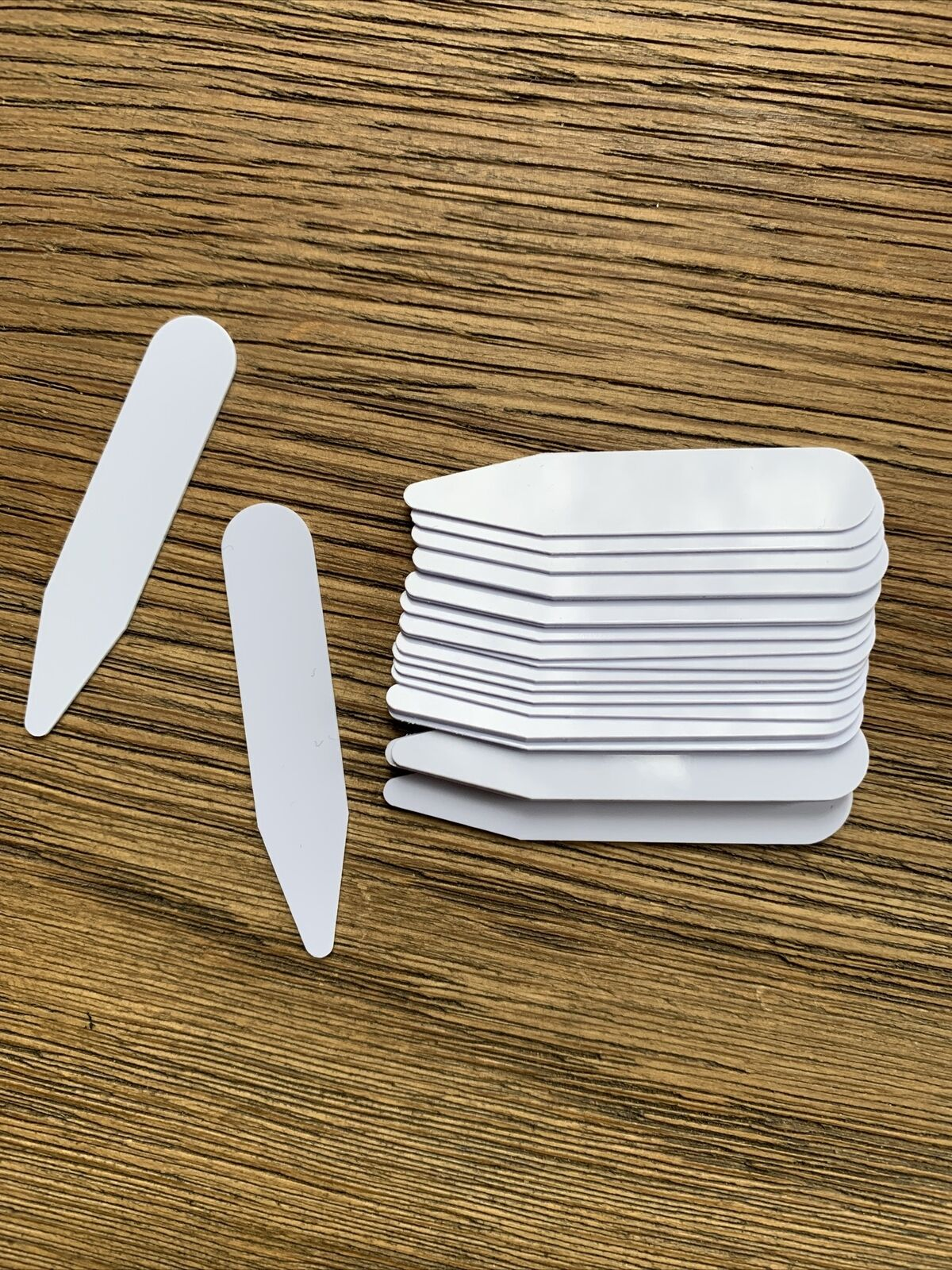 10 Pcs CollarStiffeners 5cm, Formal Men Shirt Bones Stays Inserts Plastic White