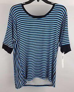 DKNY-Women-039-s-Striped-3-4-Sleeve-Pajama-Sleep-T-shirt-Y2213362