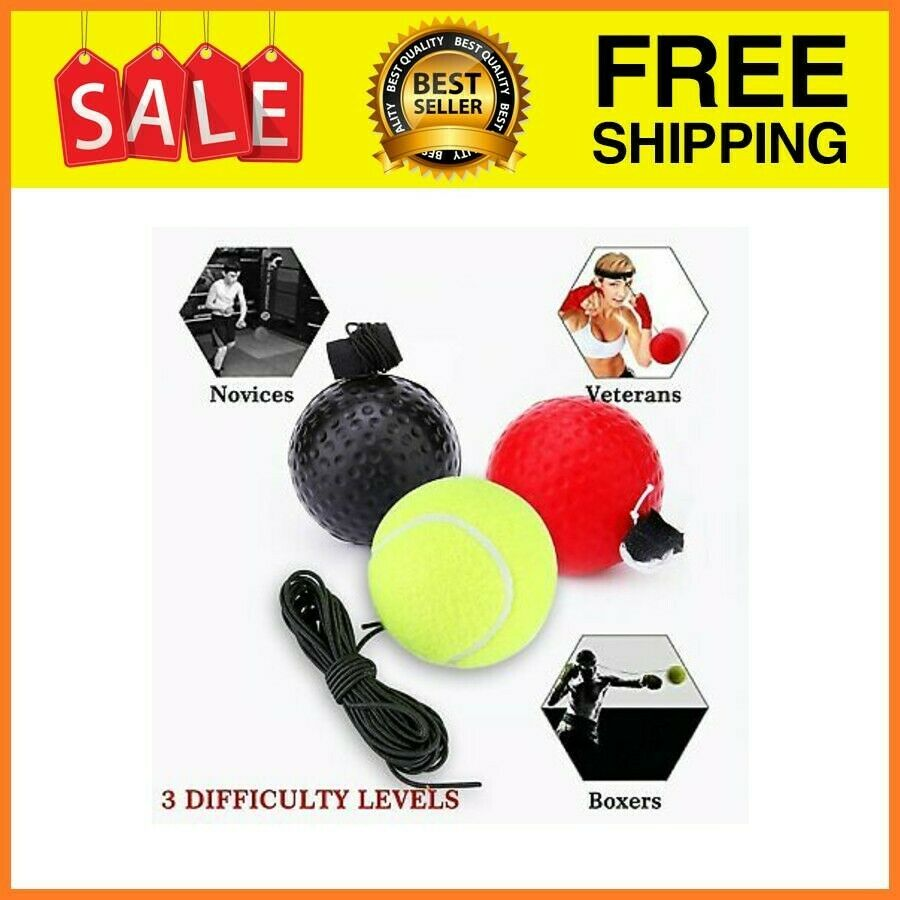 Trintion Boxing Reflex Ball Boxing Training Ball Speed Fast Fight Ball Punching Speedball Kit for Reaction Speed and Hand Eye Coordination Training