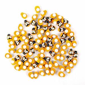 100Pcs-Home-Decor-Mini-Bee-Wooden-Sponge-Self-Adhesive-Wall-Stickers