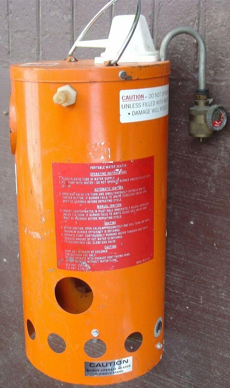 Vintage naranja portátil Calentador  de agua para restauración de piezas  de moda